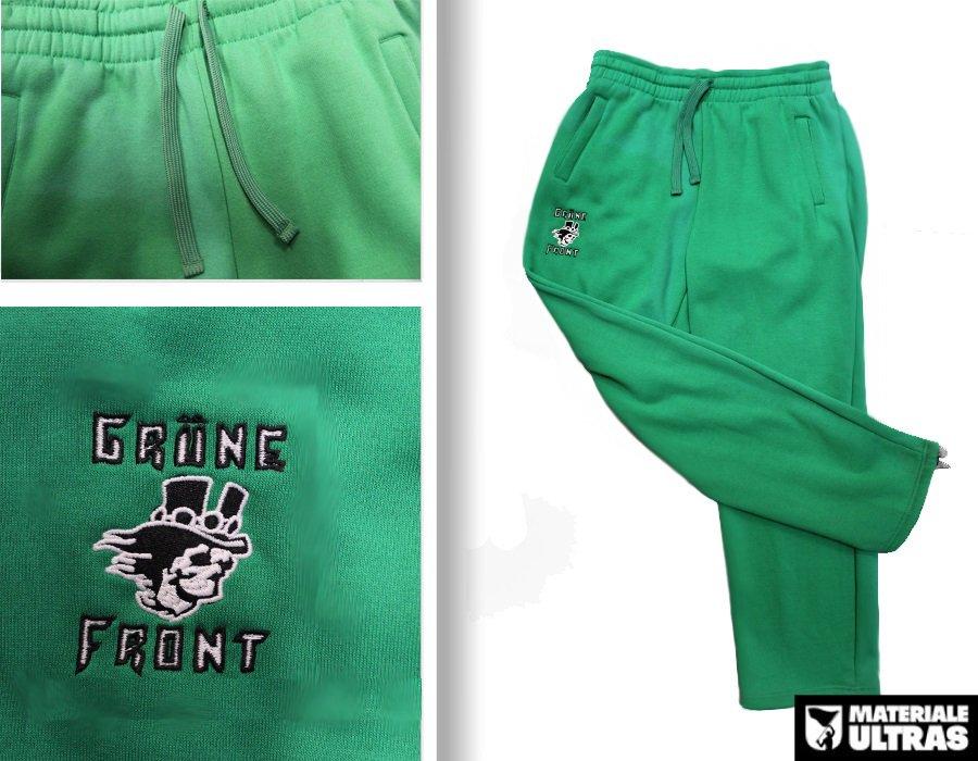 Pantalone tuta grune front